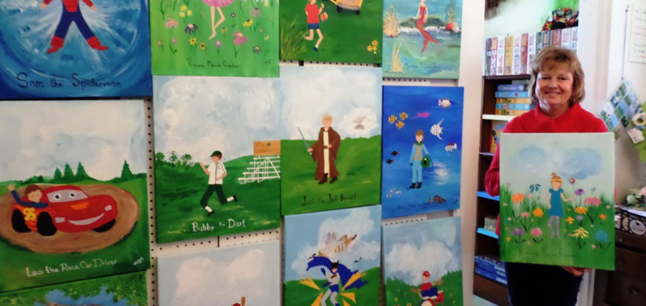 Personalized fairy tale painting for children
